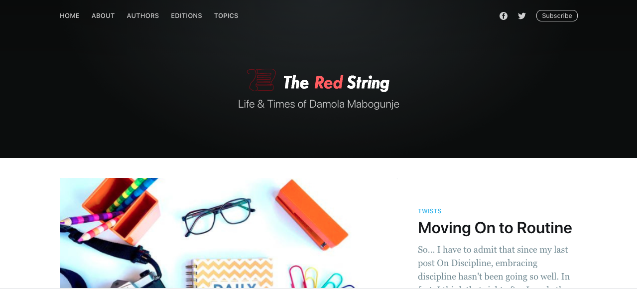 The Red String Homepage © 2020